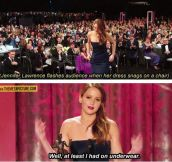 How Jennifer Lawrence deals with embarrassing situations…