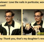 Johnny Depp and his sparkly nails…