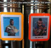 Special tea selection…