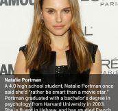 Respect, Natalie Portman…