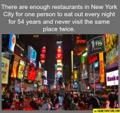 So many restaurants in NY…