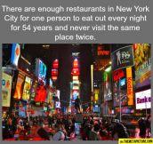 So many restaurants in NY…