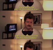 Ron Swanson's life lessons…