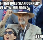 Sean Connery at Wimbledon…