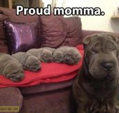 Proud mother…
