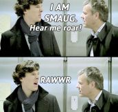 Sherlock, behave…