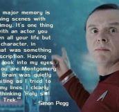 Simon Pegg on being in Star Trek…