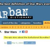 Urban Dictionary on Star Wars…