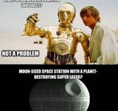 The logic of Star Wars…