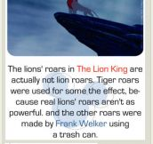 The Lion King's roars…