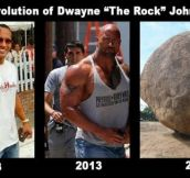 The evolution of Dwayne Johnson…
