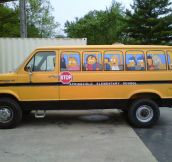 Simpsons bus made from van…
