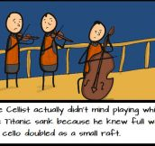The Titanic's Cellist…