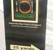 For sure the best cafe in England…