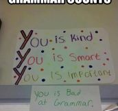 Grammar counts…