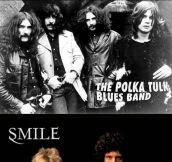 If bands had kept their original names…