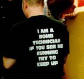 Bomb technician…