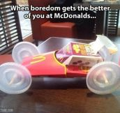 Bored at McDonald's…