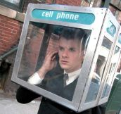 Cell phone booth…