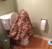 My friend potty training her kid…