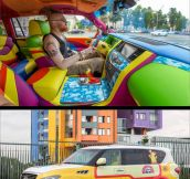 Yellow Submarine themed Infiniti SUV…