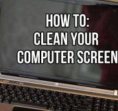 The proper way to clean your computer screen…