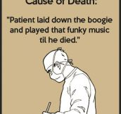 Cause of death…
