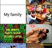 Playing games with my family…