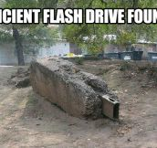 Ancient flash drive…