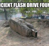 Ancient flash drive…