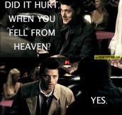 Supernatural pick up lines…