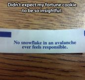 Philosophical fortune cookie…