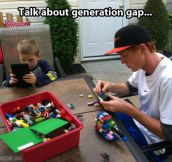 Generation gap in a picture…