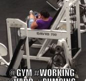 Some ladies at the gym…