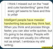 Bad handwriting…