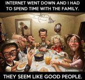 Internet went down…