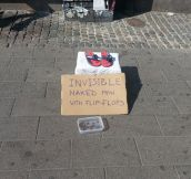 Invisible homeless man…