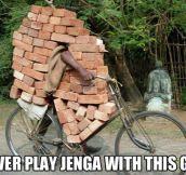 Jenga champion…