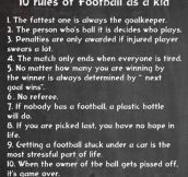 10 rules of football…