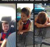 The three stages of not getting ice cream…