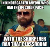 Back in kindergarten…