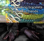 Matching bracelets…