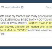 A math genius…