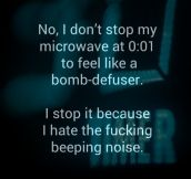 Stopping the microwave at the right time…
