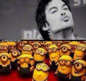 Minion kiss…