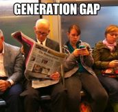 Differences between generations…