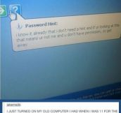 Password hint…