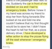 Pizza saves lives…
