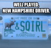 Clever New Hampshire driver…