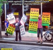 Anti-Westboro Baptist Church Protest…